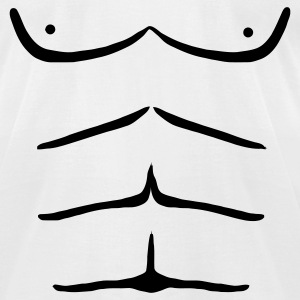 White sixpack T-Shirts - Men's T-Shirt by American Apparel