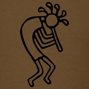 Kokopelli Outline 1c - Men's T-Shirt