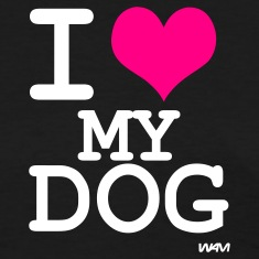 Black i love my dog by wam Women's T-Shirts