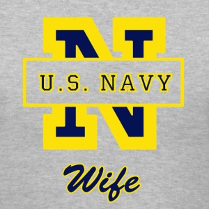 Navy N Wife V-Neck Tee - Women's V-Neck T-Shirt