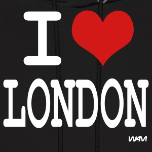 Black i love london by wam Hoodies - Men's Hoodie