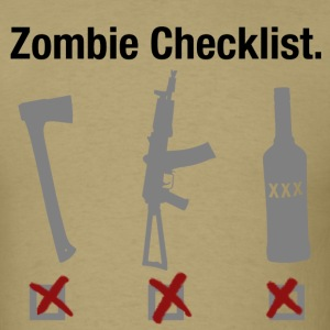 Zombie Checklist - Men's T-Shirt