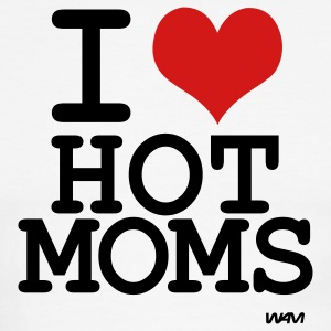 White/black i love hot moms by wam T-Shirts - Men's Ringer T-Shirt