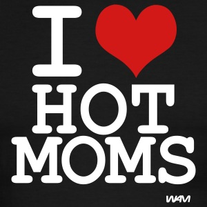 Black/white i love hot moms by wam T-Shirts - Men's Ringer T-Shirt