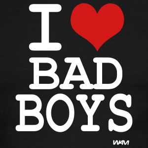 Black/white i love bad boys by wam T-Shirts - Men's Ringer T-Shirt