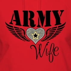 ARMY WIFE w/ WINGED HEART HOODIE
