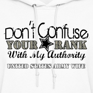 DON'T CONFUSE YOUR RANK HOODIE - Women's Hoodie