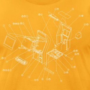 Gold Exploding Candy [BC] T-Shirts - Men's T-Shirt by American Apparel