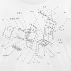 White Exploding Candy [BC] T-Shirts - Men's T-Shirt by American Apparel
