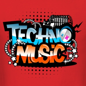 Red Techno Music T-Shirts - Men's T-Shirt