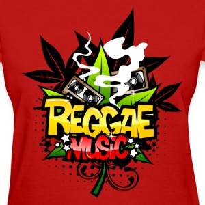 Red Reggae Music Women's T-Shirts - Women's T-Shirt