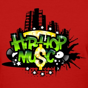 Red Hip Hop Music Women's T-Shirts - Women's T-Shirt