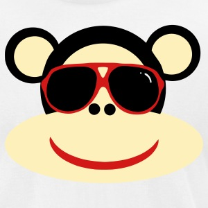 White cool monkey T-Shirts - Men's T-Shirt by American Apparel