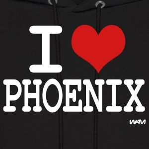 Black i love phoenix by wam Hoodies - Men's Hoodie