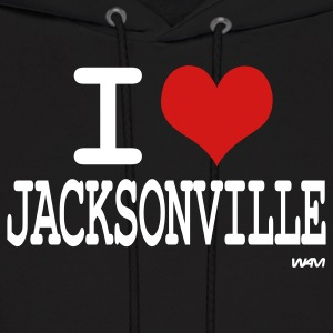 Black i love jacksonville by wam Hoodies - Men's Hoodie