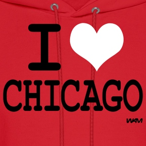 Red i love chicago by wam Hoodies - Men's Hoodie