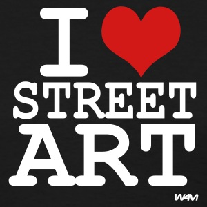 Black i love street art by wam Women's T-Shirts - Women's T-Shirt