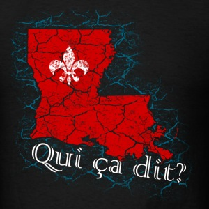 Qui ça dit? (Red) - Men's T-Shirt