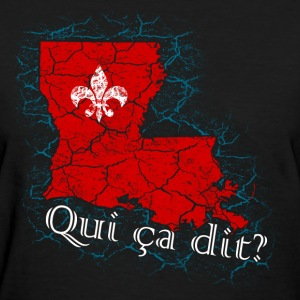 Qui ça dit? (Red) - Women's T-Shirt