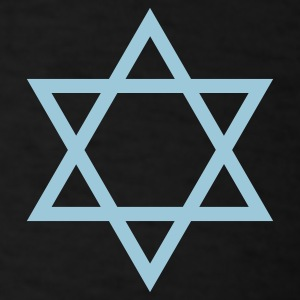 Black Star of David 1 Color T-Shirts - Men's T-Shirt