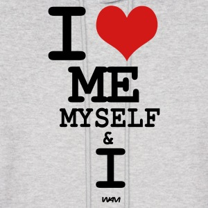 Ash  i love me myself and i by wam Hoodies - Men's Hoodie