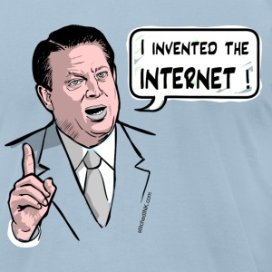 Al Gore, I invented the internet - Men's T-Shirt by American Apparel