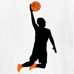 White Basketball Player Kids' Shirts - Kids' T-Shirt