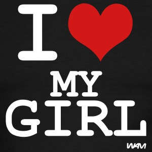 Black/white i love my girl by wam T-Shirts - Men's Ringer T-Shirt