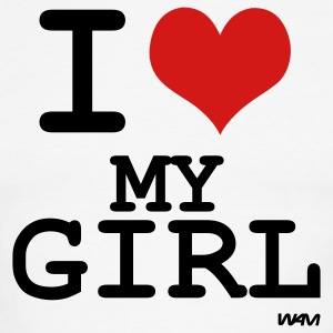 i love my girl by wam T-shirts (manches courtes) - T-shirt à bords contrastants pour hommes American Apparel