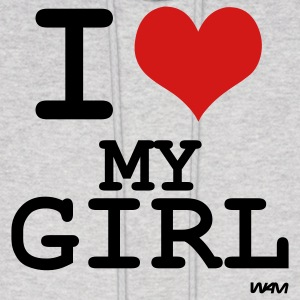 Ash  i love my girl by wam Hoodies - Men's Hoodie
