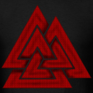Black Valknut T-Shirts - Men's T-Shirt
