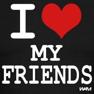 i love my friends by wam T-shirts (manches courtes) - T-shirt à bords contrastants pour hommes American Apparel