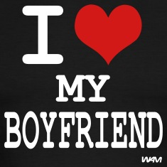 i love my boy friend by wam T-shirts (manches courtes)