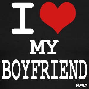 i love my boy friend by wam T-shirts (manches courtes) - T-shirt à bords contrastants pour hommes American Apparel