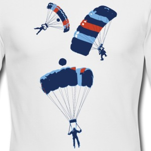 White cool skydiving parachutes Long Sleeve Shirts - Men's Long Sleeve T-Shirt by Next Level