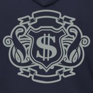 Design ~ Mens Designer Silver Print Zipper Hoodie