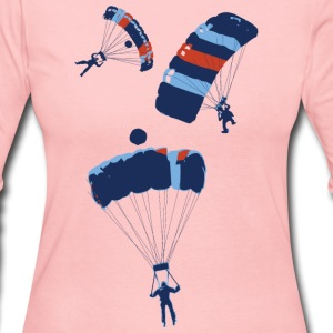 Powder blue cool skydiving parachutes Long Sleeve Shirts - Women's Long Sleeve Jersey T-Shirt
