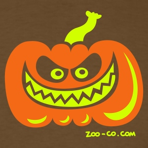 Brown Crazy Pumpkin T-Shirts - Men's T-Shirt