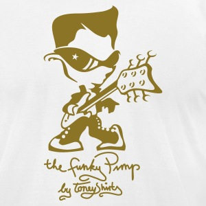 White THE FUNKY PIMP Pt.2 by toneyshirts T-Shirts - Men's T-Shirt by American Apparel
