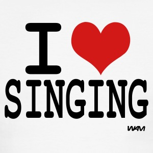 i love singing by wam T-shirts (manches courtes) - T-shirt à bords contrastants pour hommes American Apparel