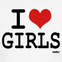 i love girls by wam T-shirts (manches courtes)