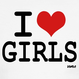 i love girls by wam T-shirts (manches courtes) - T-shirt à bords contrastants pour hommes American Apparel