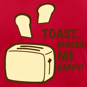 Orange toast makes me happy T-Shirts - Men's T-Shirt by American Apparel