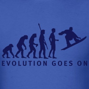 Royal blue evolution_snowboard_b T-Shirts - Men's T-Shirt