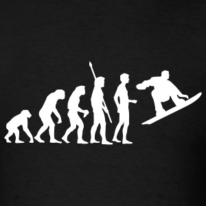 Black evolution_snowboard T-Shirts - Men's T-Shirt