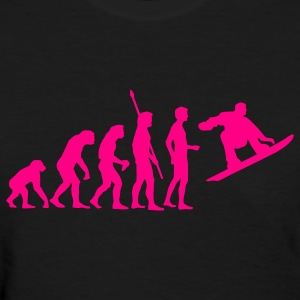 Black evolution_snowboard Women's T-Shirts - Women's T-Shirt