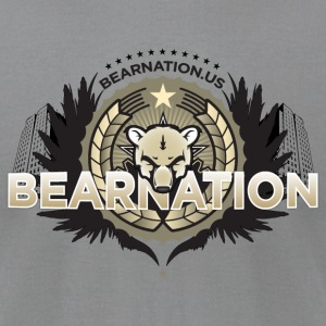 Slate BEARNATION.us Military Sir T-Shirts - Men's T-Shirt by American Apparel