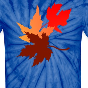 Three Leaves - Unisex Tie Dye T-Shirt