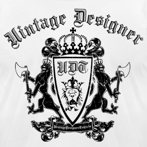 White Cool Vintage Crest T-Shirts - Men's T-Shirt by American Apparel