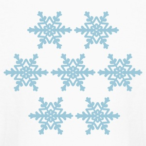 White Snowflakes Kids' Shirts - Kids' Long Sleeve T-Shirt